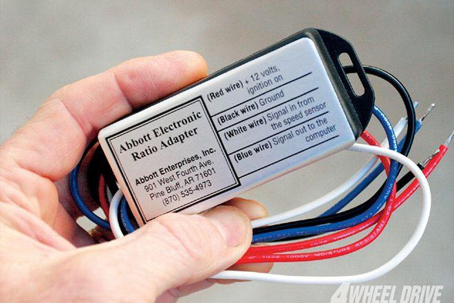 Electronic speedometer ratio adapter