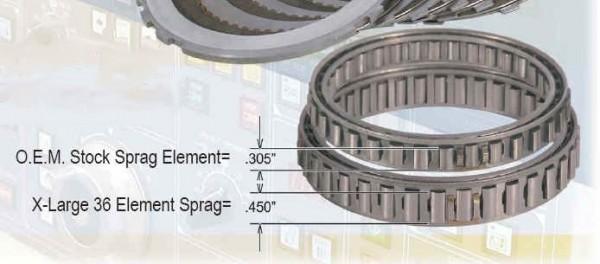 intermediate sprag and drum