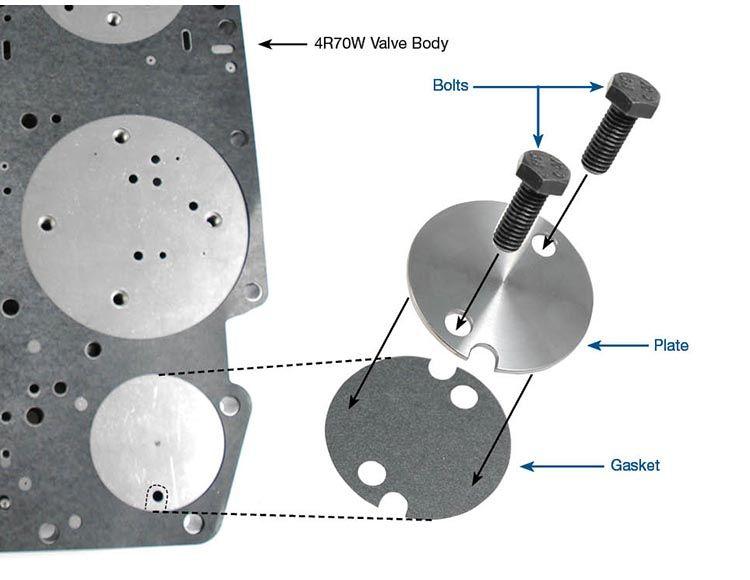 4r70w 4r75w 4r70e 4r75e valve body retainer plate patc 4r70w Valve Body Diagram