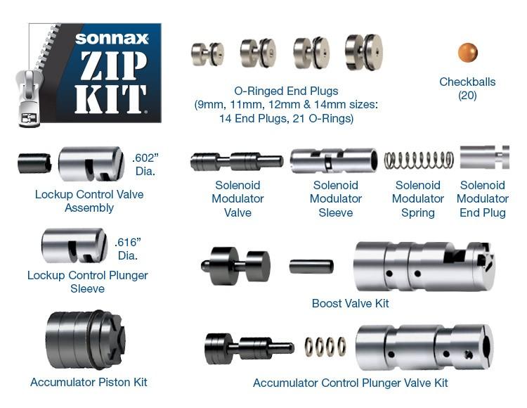 Sonnax # A750E-A761E-ZIP, Toyota Zip-Kit for A750E, A750F, A760E, A760F,  A760H, A761E, A960E, A960F, AB60E, AB60F