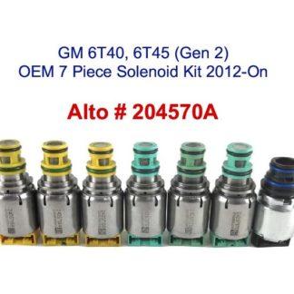 GM 6T45 6T40 Generation 2 OEM 7 Piece Solenoid Kit 2012 On